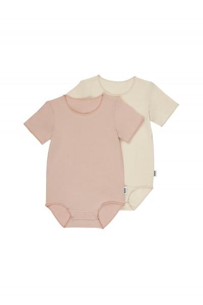 Organic Short Sleeve Bodysuit 2 Pack