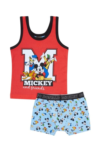 Mickey Boys Singlet And Trunk Set
