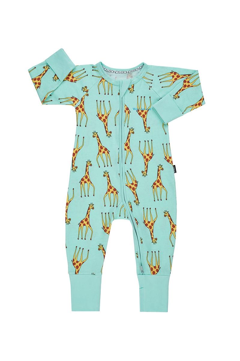 BONDS BABY BOY GIRL COTTON WONDERSUIT ZIP JUMPSUIT PINK BLUE 0000 000 00 0 1 2 3