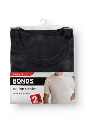 Bonds Original Raglan Tee 2pk Black