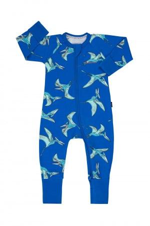 Bonds Zip Wondersuit Flying Pterodactyl Blue