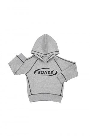 Bonds Kids Cool Sweats Hoodie New Grey Marle