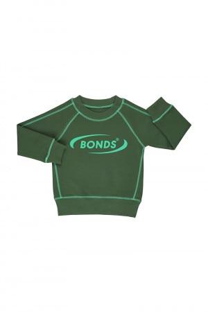 Bonds Kids Cool Sweats Pullover Blade Green