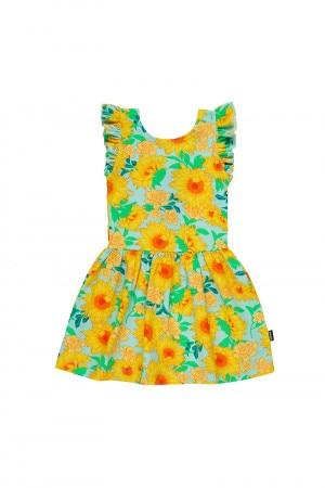 Bonds Girls Hipster Frill Dress Summer Sunflower Mint