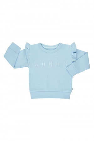 Bonds Girls Frill Pullover Perfect Blue