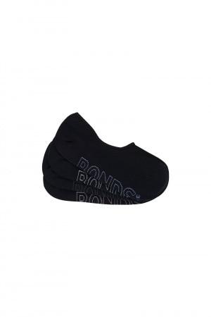 Bonds Logo Lightweight Sneaker 4 Pack Blk Asst