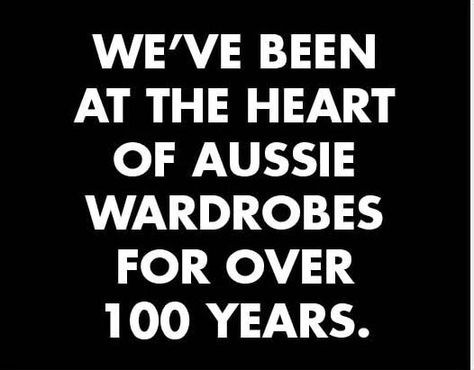 Heart of Aussie wardrobes.